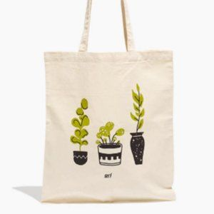 SOLD: Madewell Large Canvas Nature Garden Tote Bag